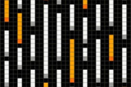 orange pixels Traditional Geometric Mosaic by Artaic orange pixels Traditional Geometric Mosaic installation by Artaic orange pixels Traditional Geometric Mosaic installation by Artaic