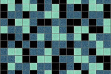 turquoise blend Traditional Geometric Mosaic by Artaic