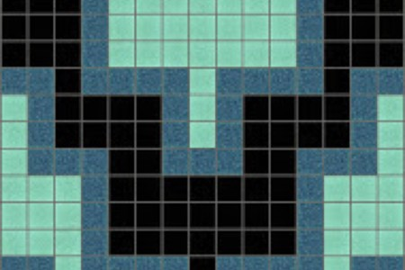 turquoise chevron Traditional Geometric Mosaic by Artaic