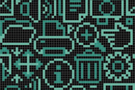 turquoise computer icons Traditional Geometric Mosaic by Artaic