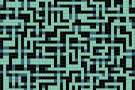 turquoise pixels Traditional Geometric Mosaic by Artaic turquoise pixels Traditional Geometric Mosaic installation by Artaic turquoise pixels Traditional Geometric Mosaic installation by Artaic