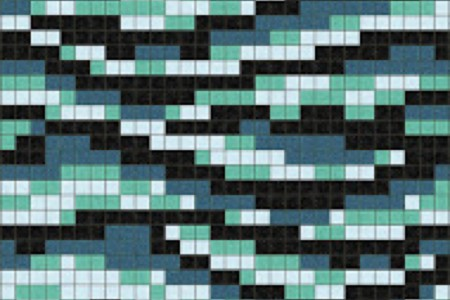 turquoise water Traditional Geometric Mosaic by Artaic