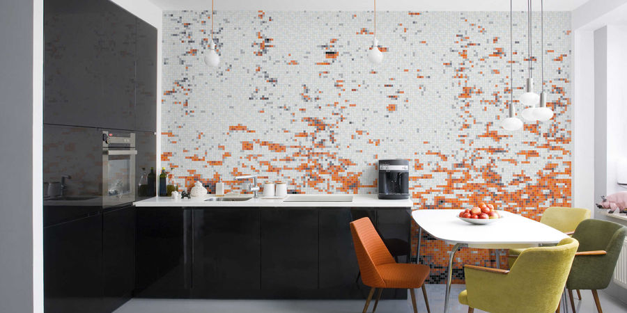 Abstract patterns inspired by the spontaneous movement of water. Mosaic Collections Catalog   Artaic