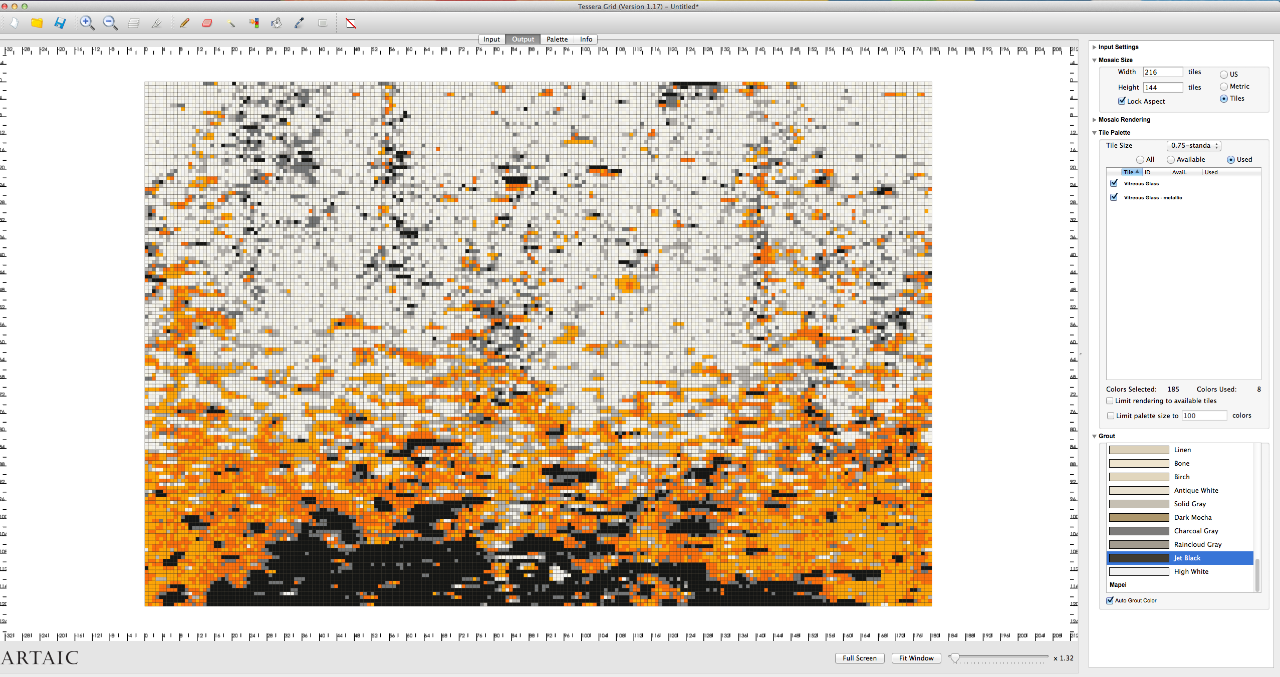 tessera by artaic software- screenshot