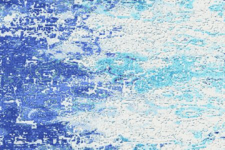 Blue coast Contemporary Abstract Mosaic by Artaic
