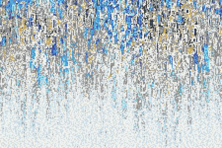Blue downpour Contemporary Abstract Mosaic by Artaic