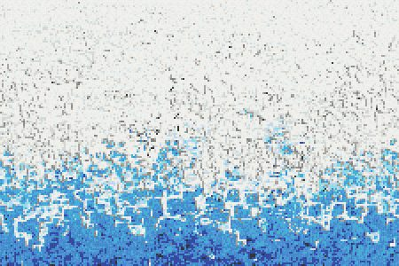 Blue Waves Contemporary Abstract Mosaic by Artaic