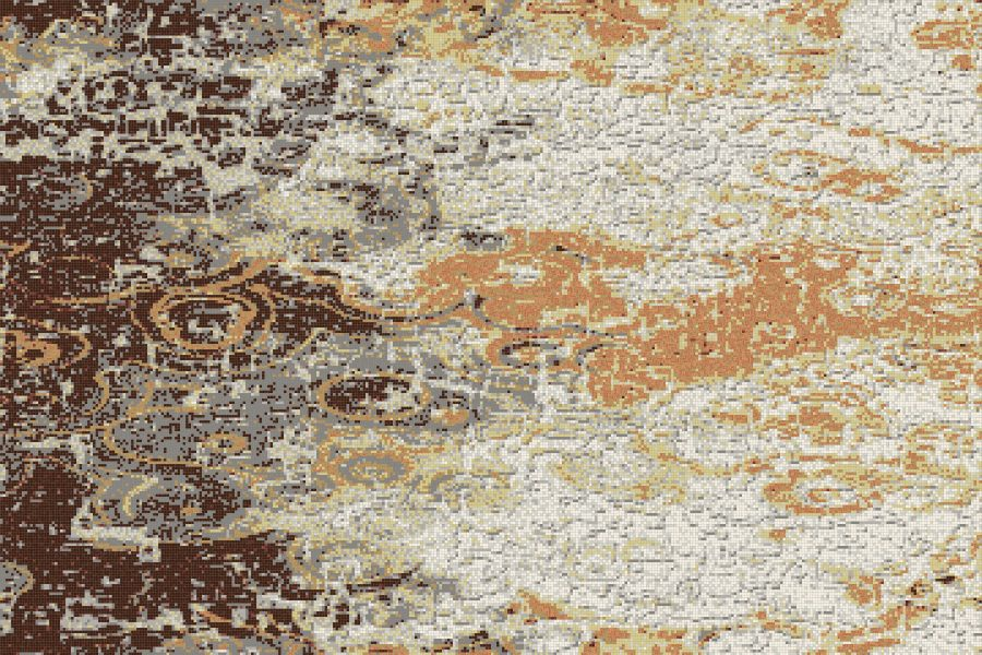 Brown coast Contemporary Abstract Mosaic by Artaic