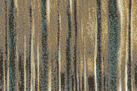 Brown nature Contemporary Abstract Mosaic by Artaic