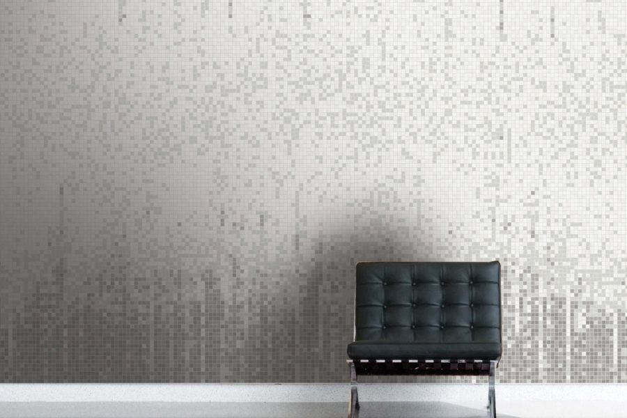 Grey Waterflow Tile Pattern Breach Pewter By Artaic