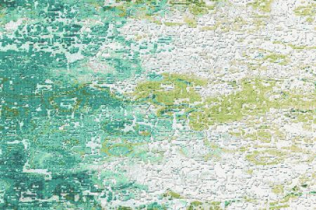 Green coast Contemporary Abstract Mosaic by Artaic
