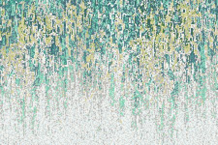 Green downpour Contemporary Abstract Mosaic by Artaic