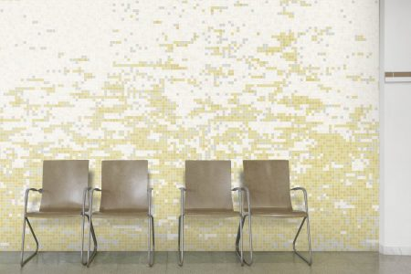 Neutral effervescence Contemporary Abstract Mosaic installation by Artaic