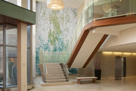 Green coast Contemporary Abstract Mosaic installation by Artaic