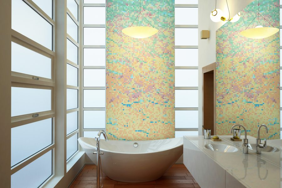 Multi Waves Tile Pattern | Serene Dawn by ARTAIC
