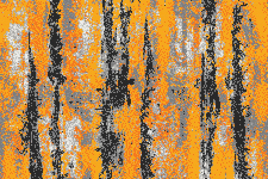 Orange depths Contemporary Abstract Mosaic by Artaic