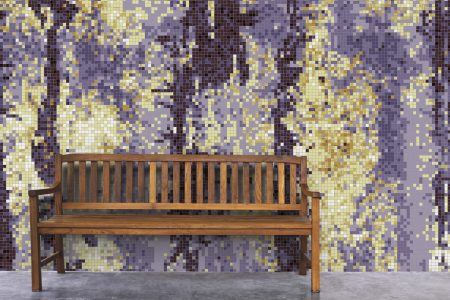 Purple depths Contemporary Abstract Mosaic installation by Artaic