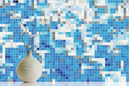 blue waves abstract mosaic by artaic blue waves abstract mosaic by artaic