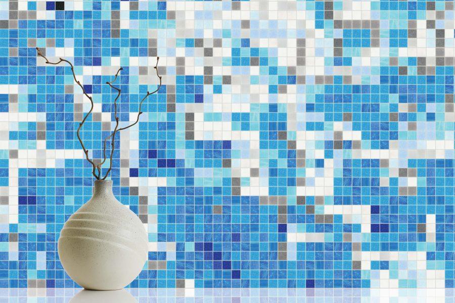 Blue Waves Tile Pattern | Rising Tide Cerulean by ARTAIC