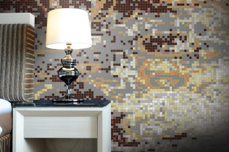 Brown coast Contemporary Abstract Mosaic installation by Artaic
