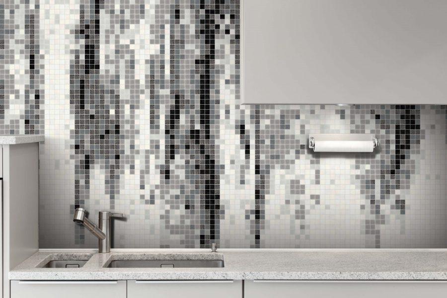 Grey Waterflow Tile Pattern | Percolate Titanium by ARTAIC