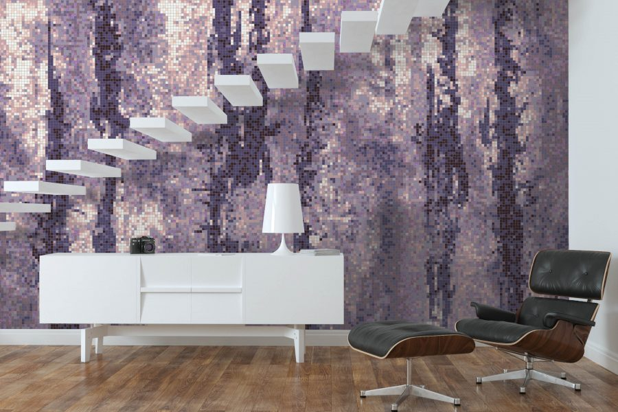 Purple Depths Tile Pattern Rift Lilac By Artaic