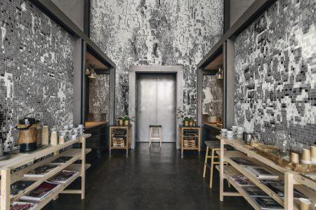 Blue coast Contemporary Abstract Mosaic installation by Artaic
