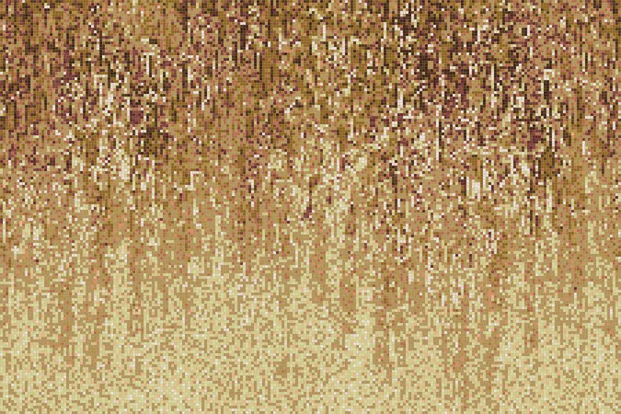 Tan downpour Contemporary Abstract Mosaic by Artaic