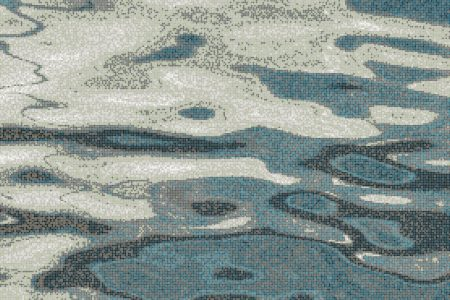 Turquoise water ripples Contemporary Abstract Mosaic by Artaic