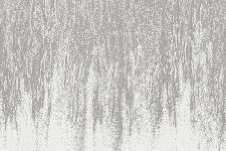 White waterfall Contemporary Abstract Mosaic by Artaic