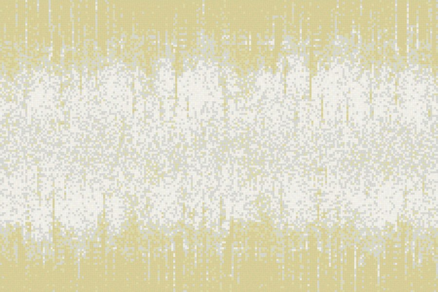 Yellow Waterfall Contemporary Abstract Mosaic by Artaic