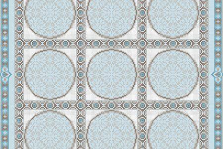 Blue geometries Traditional Ornamental Mosaic by Artaic