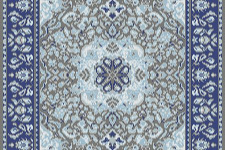 Blue Persian tapestries Traditional Ornamental Mosaic by Artaic