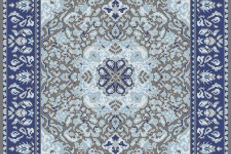 Blue Persian tapestries Traditional Ornamental Mosaic by Artaic