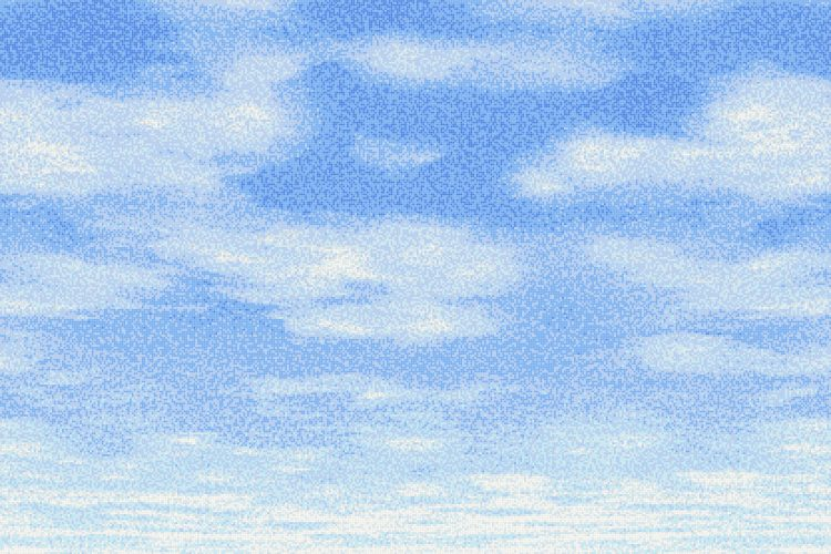 Blue Sky Tile Mural Cumulus Midday Blue By Artaic