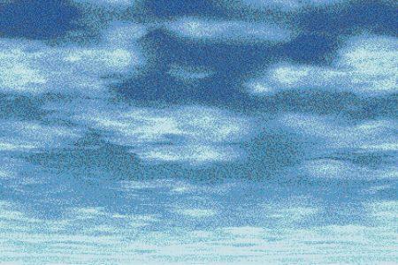 Blue Sky Contemporary Artistic Mosaic by Artaic