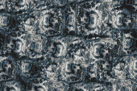 Blue Tortoise Shell Contemporary Textural Mosaic by Artaic