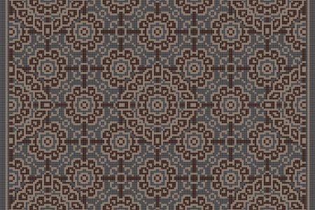 Brown art nouveau Traditional Ornamental Mosaic by Artaic