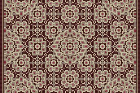 Brown art nouveau Traditional Ornamental Mosaic by Artaic