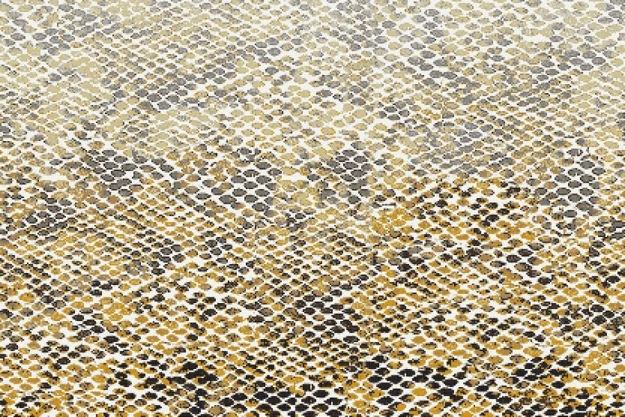 Gold Snake Skin Contemporary Textural Mosaic by Artaic