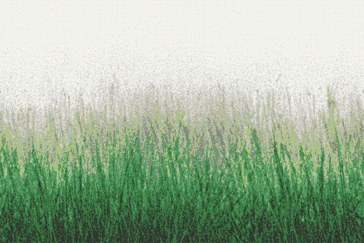 Green Grass Tile Pattern Meadow Virid By Artaic