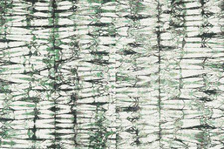 Green Snake Skin Contemporary Textural Mosaic by Artaic