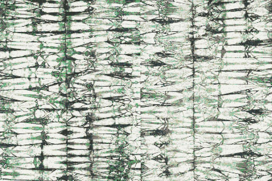 Green Snake Skin Contemporary Textural Mosaic by Artaic