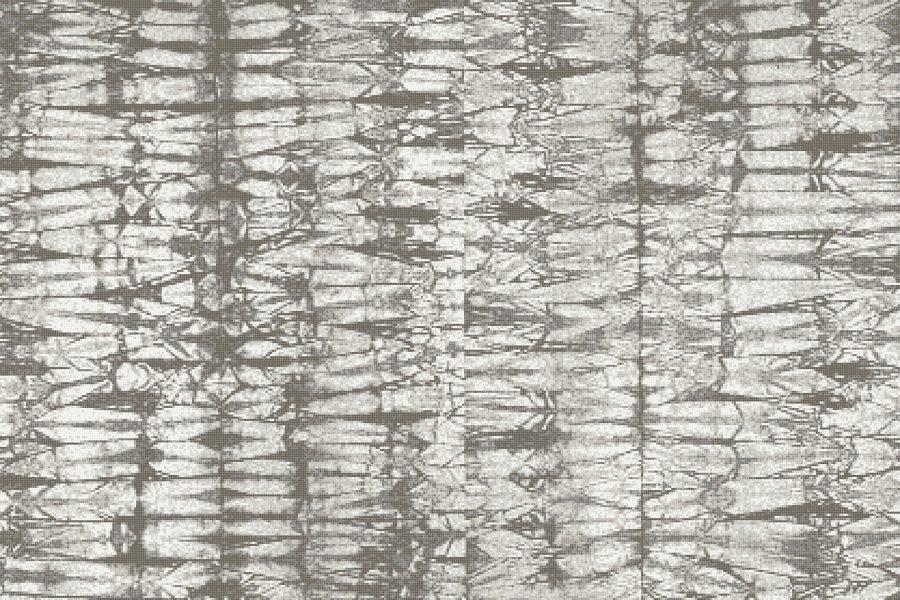 Grey Snake Skin Contemporary Textural Mosaic by Artaic