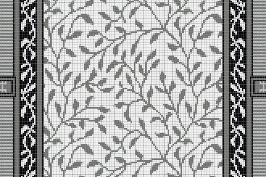 Grey vines Traditional Ornamental Mosaic by Artaic