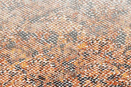 Orange Snake Skin Contemporary Textural Mosaic by Artaic