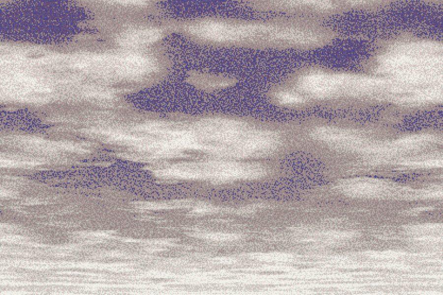 Purple Sky Contemporary Artistic Mosaic by Artaic