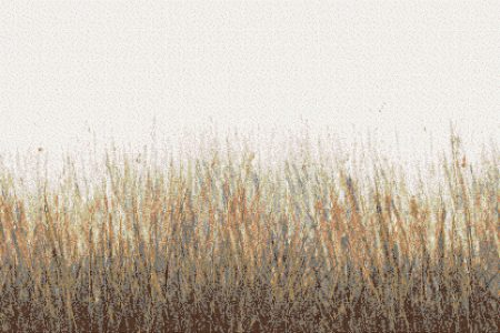 Tan Grass Contemporary Artistic Mosaic by Artaic