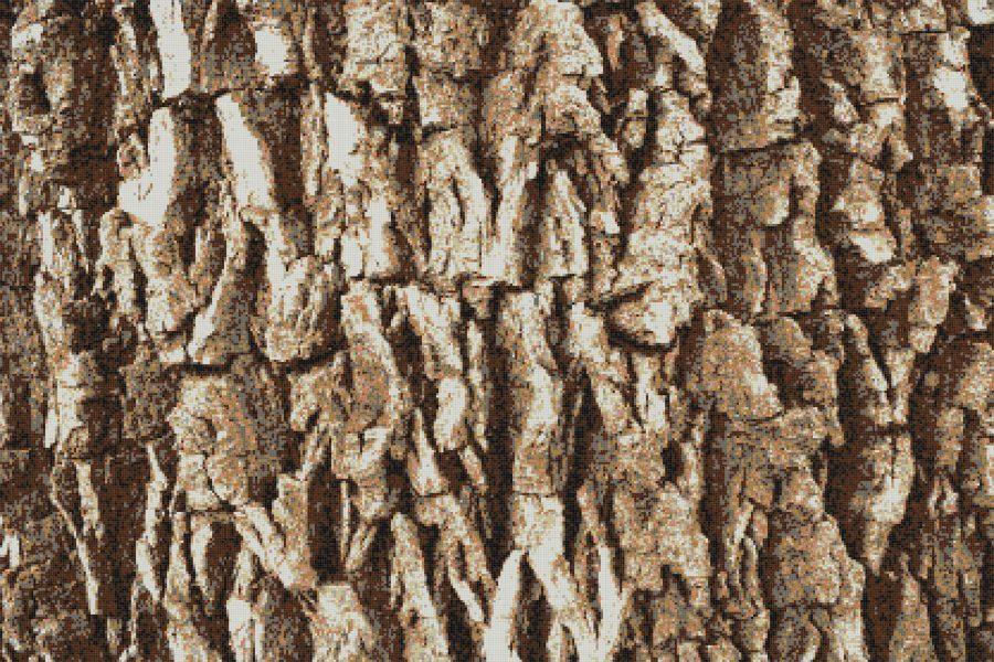 Tan Pine Bark Tile Pattern Conifera Sierra By Artaic