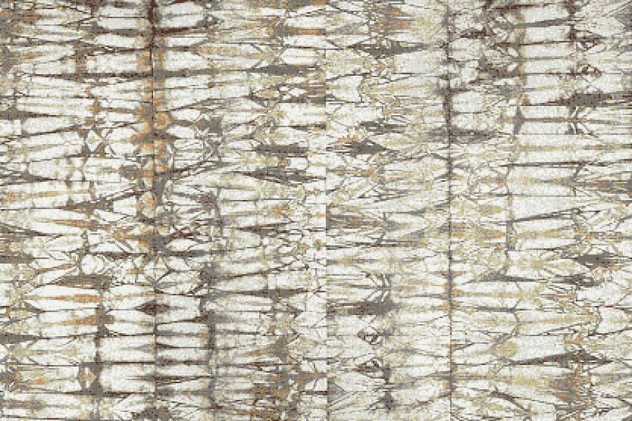 Tan Snake Skin Contemporary Textural Mosaic by Artaic